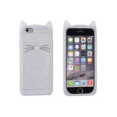 Forcell Soft Silicone 3D Back Case Samsung A320F Galaxy A3 (2017) Grey Cat