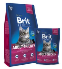 Brit Premium Cat Adult su vištiena, 8 kg