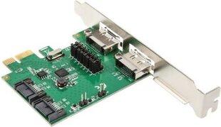 InLine PCIe x1 na 2 x SATA 6G / 2x eSATA 6G (76696B)