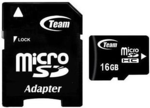 Atminties kortelė su atapteriu Team Group Micro SDHC 16GB CL10