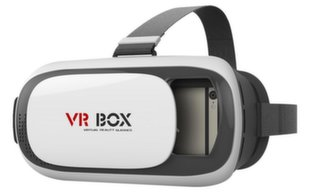 VR BOX 3D Virtual Reality Glasses for Devices Up To 5.5 inches White