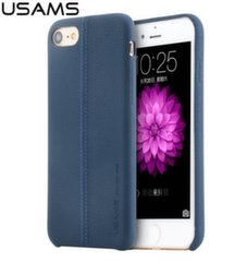 Usams Joe Series Ultra Thin Leather Back Case For Apple iPhone 7 Blue