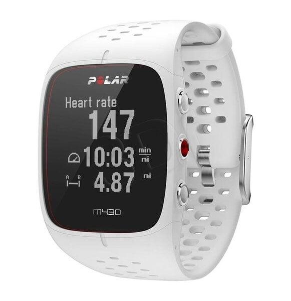 Polar M430, Dydis M, White kaina ir informacija | Išmanieji laikrodžiai (smartwatch) | pigu.lt