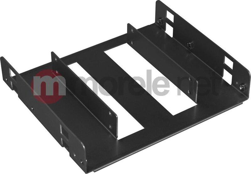 """Lian Li Hard Drive Converting Kit 5.25"""" to 2.5"""", Black (HD-520X)"""