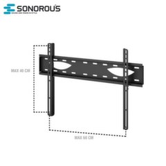 "Sonorous SUREFIX235 Universal LCD/LED TV Wall Mount till 60"" (60kg Max) Black"