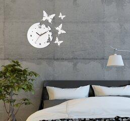 Sieninis laikrodis Skrajojantys drugeliai. Apvalus su skaičiais