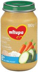 Tuno, ryžių, cukinijų ir morkų tyrelė Milupa, 8 mėn+, 190 g