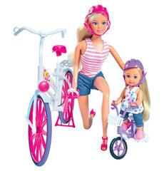 Lėlė Steffi su dviračiu Ride Bike