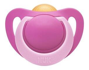 Lateksinis čiulptukas NUK Genius mažo svorio naujagimiams, 0-2 mėn., Nr.0, 1vnt., rožinis