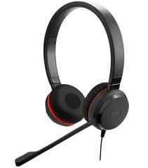 Ausinės su mikrofonuJabra Evolve 30 Stereo 3.5 mm, juodos kaina ir informacija | Ausinės, mikrofonai | pigu.lt