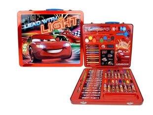 Piešimo rinkinys 53 dalių lagaminėlyje (Žaibas Makvynas) kaina ir informacija | Kanceliarinės prekės | pigu.lt
