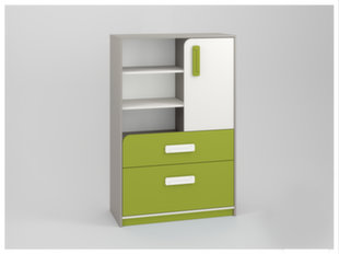 Lentyna IQ 07, žalia/balta/pilka kaina ir informacija | Vaikiškos lentynos | pigu.lt
