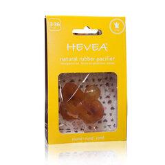 Natūralaus kaučiuko čiulptukas Hevea Crown, 3 mėn+, apvalus kaina ir informacija | Maitinimo priemonės | pigu.lt