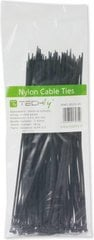Techly Nylon Clamps 200 x 2.5mm 100 pcs, Black (306370) kaina ir informacija | Techly Nylon Clamps 200 x 2.5mm 100 pcs, Black (306370) | pigu.lt