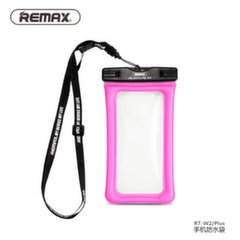 Remax Universal 20m Waterproof Seal Bag Case for mobile devices till 6 inch LCD Pink
