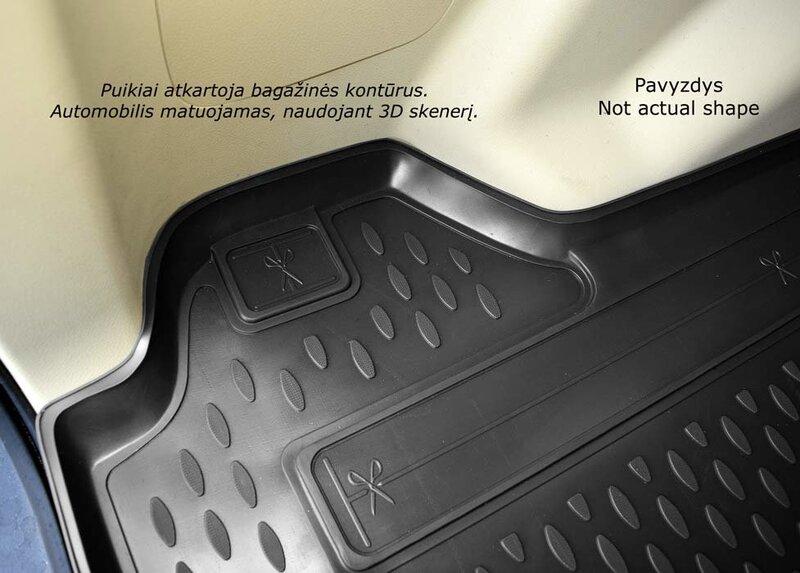 Guminis bagažinės kilimėlis BMW 1 (f20) hb 2012-> black /N04002