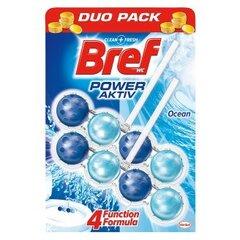 "WC valiklis-gaiviklis ""BREF Power Aktiv Ocean"" 2x50g kaina ir informacija | Valikliai | pigu.lt"