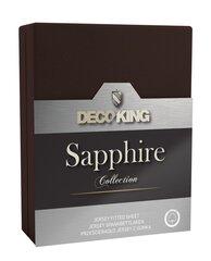 DecoKing jersey Sapphire Collection paklodė su guma čiužiniui, 160x200 cm