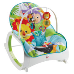 Gultukas-kėdutė Fisher Price Infant to Toddler Rocker, blue