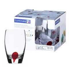 Aukštų stiklinių rinkinys DRIP RED 350 ml, 4 vnt.