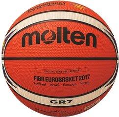 Krepšinio kamuolys MOLTEN FIBA Eurobasket 2017 rubber BGR7-E7T