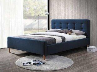 Lova Pinko, 160x200 cm, mėlyna kaina ir informacija | Lovos | pigu.lt