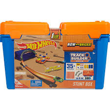 Startinis rinkinys su dėže Hot Wheels Track Builder, DWW95