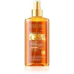 Savaiminio įdegio purškiklis tamsesnei odai Eveline Summer Gold 5in1 150 ml kaina ir informacija | Apsauginiai, soliariumo kremai | pigu.lt