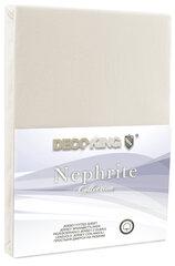 DecoKing jersey Nephrite Cream collection paklodė su guma čiužiniui , 180x200 cm