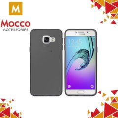 Mocco Ultra Back Case 0.3 mm Silicone Case for Samsung A320 Galaxy A3 (2017) Transparent - Black kaina ir informacija | Telefono dėklai | pigu.lt