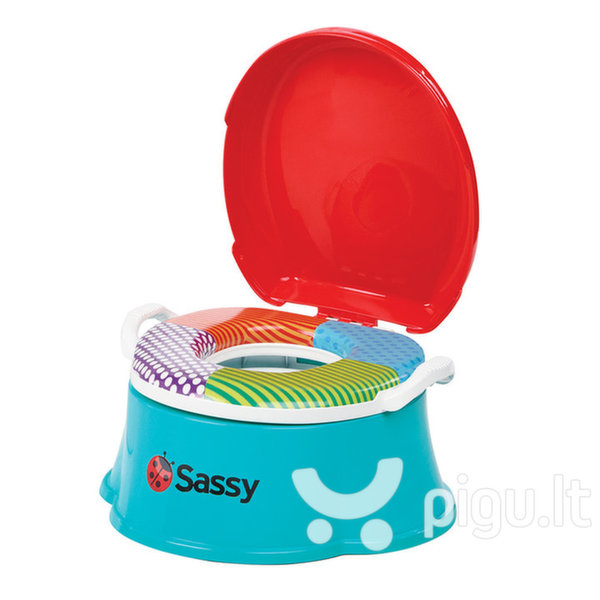Naktipuodis 3in1 Sassy Learn & Rewards Potty