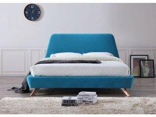 Lova Gant 160x200 cm, mėlyna kaina ir informacija | Lovos | pigu.lt