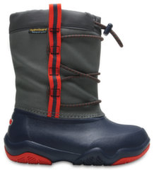 Сапоги Crocs™ Swiftwater Waterproof Boot, Navy / Flame