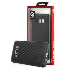 Apsauginė nugarėlėQult Luxury Carbon Back Case, skirta Huawei P10 Lite telefonui, juoda