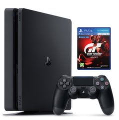 Sony PlayStation 4 (PS4) Slim, 500 GB + Gran Turismo Sport