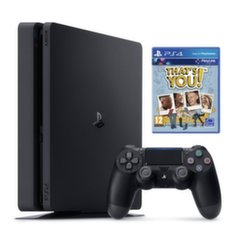 Sony PlayStation 4 (PS4) Slim, 500 GB + That`s You