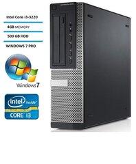 DELL 7010 DT i3-3220 4GB 500GB DVDRW WIN7Pro kaina ir informacija | Stacionarūs kompiuteriai | pigu.lt