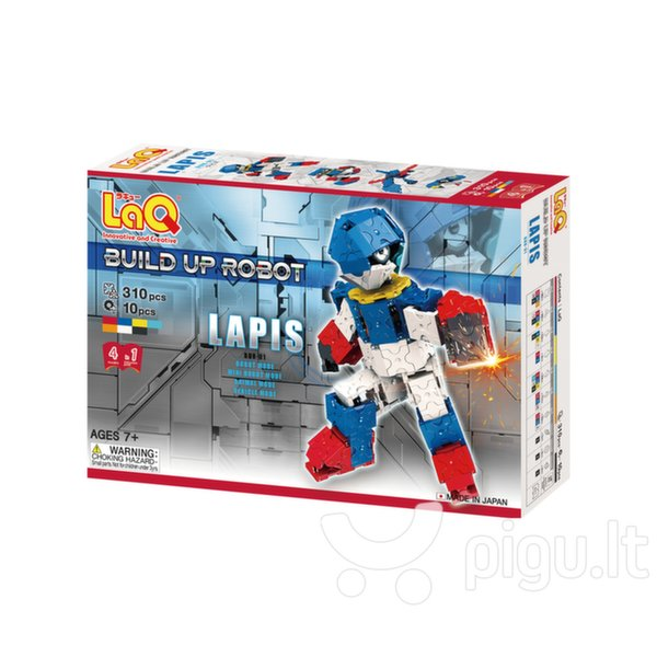 "Japoniškas konstruktorius LaQ ""Build Up Robot Lapis"", 310 detalių kaina ir informacija | Konstruktoriai ir kaladėlės | pigu.lt"