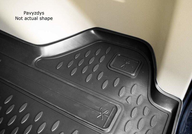 Guminis bagažinės kilimėlis RENAULT Fluence sedan 2010-> black /N32002