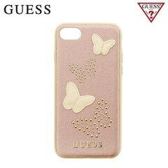 Guess Studs and Sparkle nugarėlės dangtelis telefonui Apple iPhone 7 / 8, Rožinis/Auksinis