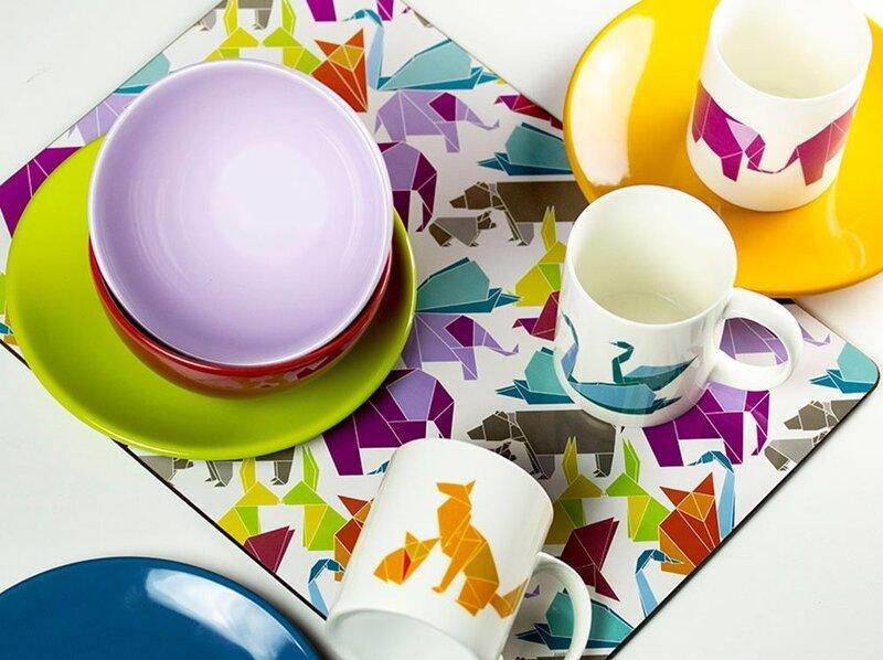 Ambition desertinė lėkštė Happy-Origami Orange, 20 cm