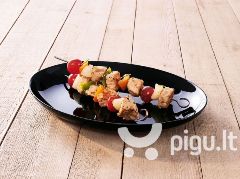 Luminarc lėkštė Barbecue Friends Time Black, 32,8 cm