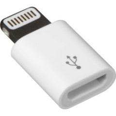 Mocco Adapter Micro USB to Lighting MD820ZM Connection Analogue White kaina ir informacija | Adapteriai, USB šakotuvai | pigu.lt