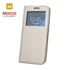 Mocco Smart Look Magnet Book Case With Window For Xiaomi Redmi 3 Gold kaina ir informacija | Telefono dėklai | pigu.lt