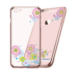 X-Fitted Plastic Case With Swarovski Crystals for Apple iPhone 6 / 6S Rose gold / Flourishing Bloom kaina ir informacija | Telefono dėklai | pigu.lt