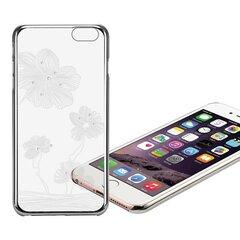 X-Fitted Plastic Case With Swarovski Crystals for Apple iPhone 6 / 6S Silver / Lotus kaina ir informacija | Telefono dėklai | pigu.lt