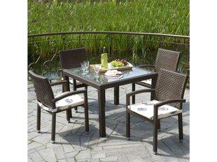 Stalas Patio Loretta, 90 cm, rudas kaina ir informacija | Lauko stalai, staliukai | pigu.lt