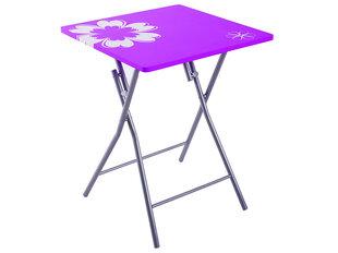 Sulankstomas stalas Patio Flower, violetinis