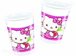 Plastikiniai puodeliai Hello Kitty, 8 vnt./200 ml kaina ir informacija | Dekoracijos, indai šventėms | pigu.lt