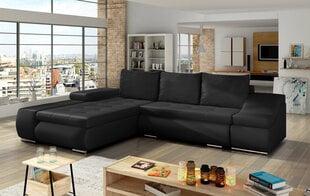 Minkštas kampas Ontario, juodas kaina ir informacija | Sofos, foteliai ir minkšti kampai | pigu.lt